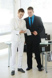 Two businessmen on work