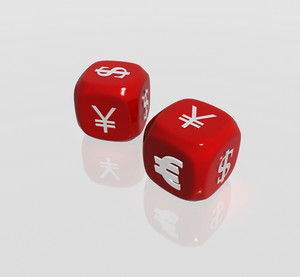 Two Currency Symbols Dice