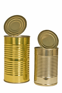 Two Empty Metal Cans
