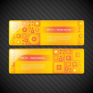 Two Modern Banners For Web Advertising.