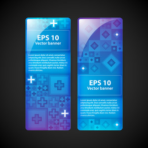 Two Modern Vector Banners For Web Advertising.