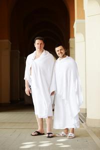 Two Muslims at Hajj
