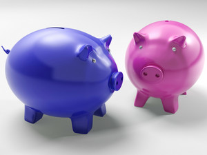 Two Pigs Shows Financial Investment And Security