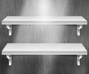 Two Shelves Metal Background