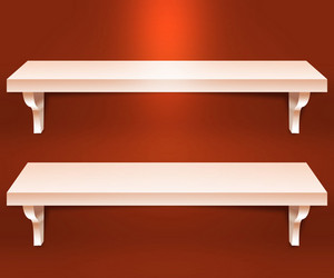 Two Shelves Orange Background