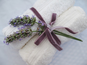 Two Towels And Lavander