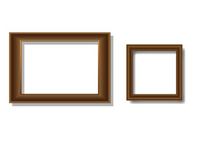 Two Vector Wooden Frames