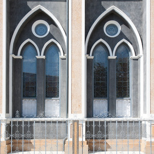 two windows in church