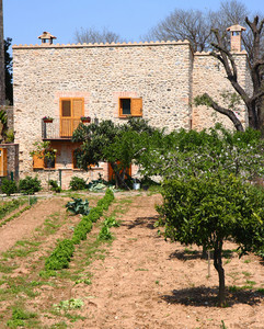 Typical Spanish Villa And Garden