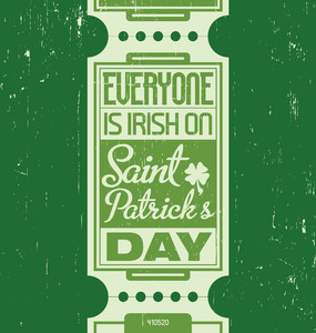 Typographic Saint Patrick's Day Design