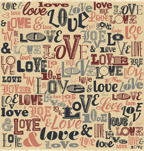 Typographic Valentines Day Design