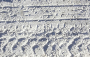 Tyre Prints On Snow Texture