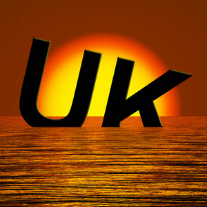 Uk Word Sinking As Symbol For Britains Problems