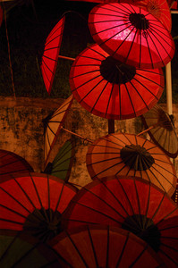 Umbrella at Laos night market