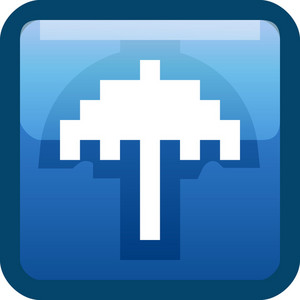 Umbrella Blue Tiny App Icon