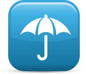 Umbrella Elements Glossy Icon