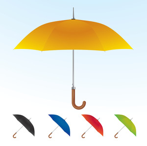 Umbrellas. Vector.
