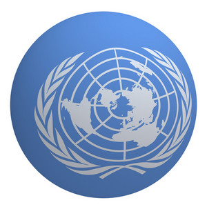 Un Flag On The Ball Isolated On White.