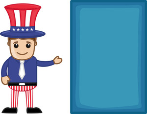 Uncle Sam - 4th July - Independence Day - Business Cartoon Characters