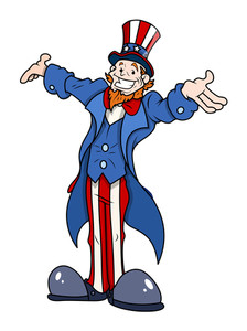 Uncle Sam  4th Of July Vector Illustration