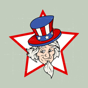 Uncle Sam 4th Of July Vector Theme Design