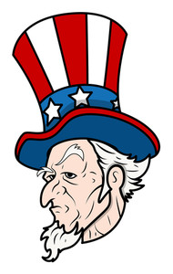 Uncle Sam Classic Face Vector