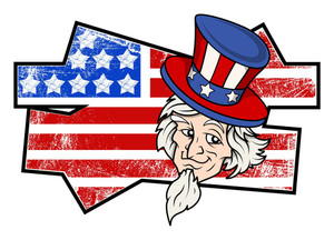 Uncle Sam Grunge Usa Independence Day Vector Theme Design