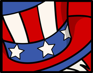 Uncle Sam Hat  4th Of July Vector Theme Design