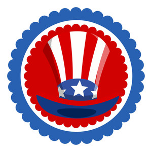 Uncle Sam Hat  4th Of July Vector