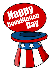 Uncle Sam Hat Constitution Day Vector Illustration