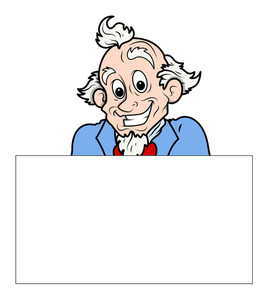 Uncle Sam Holding A Blank Banner Vector