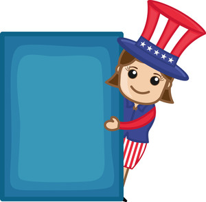 Uncle Sam - Lady - Business Cartoon Characters