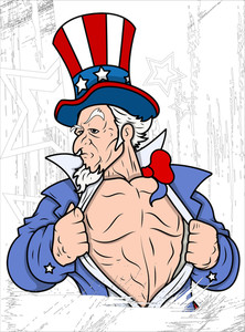 Uncle Sam Portrait 4th Of July Vector Theme Design