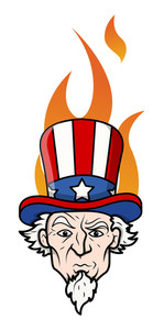 Uncle Sam Vector In Attitude