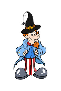 Uncle Sam With Witch Hat