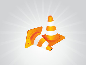 Under Construction Sign Traffic Cones
