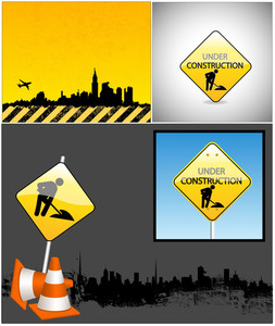 Under Construction Vector Backgrounds