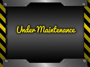 Under Maintenance Website Banner Design