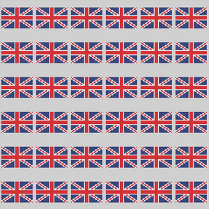 Union Jack Pattern On England Paper