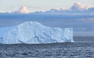 Unique iceberg at dawn