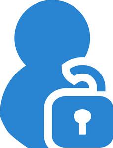 Unlock Contact Simplicity Icon