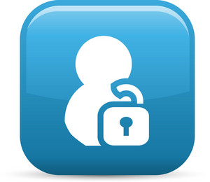 Unlock Person Elements Glossy Icon