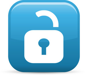 Unlocked Padlock Elements Glossy Icon