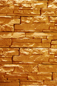 Unshaped Stone Wall (illuminated)