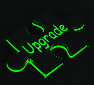 Upgrade Puzzle Showing Updating Versions