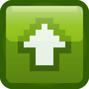 Upload Arrow Green Tiny App Icon