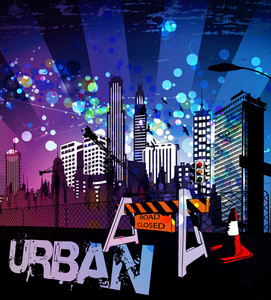 Urban Background Vector Illustration