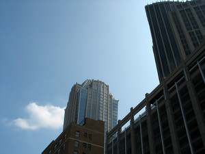 Urban buildings and highrises.