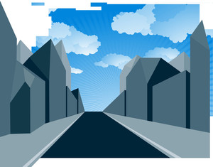 Urban Perspectives. Vector.