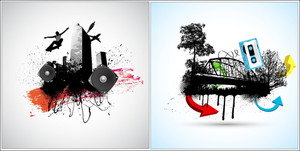 Urban Vector Backgrounds